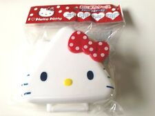 Hello Kitty,Bento,Plastic Onigiri case, lunch box,Red,White,Sanrio