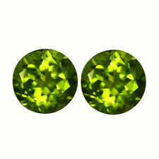 3.76 Cts Natural PAIR 8.0mm Pakistan PERIDOT  Stone for Jewelry Setting Round
