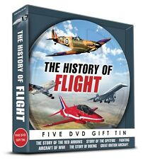 THE HISTORY OF FLIGHT 5 DVD GIFT TIN - RED ARROWS, SPITFIRE, BOEING & MORE