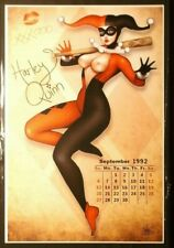 NATHAN SZERDY SIGNED 12X18 SIGNED ART PRINT JESTER HARLEY QUINN RISQUEE CALENDAR