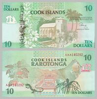 Cook Inseln / Cook Islands 10 Dollars 1992 p8a unz.