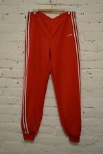 90s 80s Vintage Mens ADIDAS ORIGINALS Tracksuit Jogger Pants Red Size L Mens