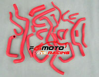 FOR NISSAN SILVIA/180SX S13 CA18DET 1989-1994 SILICONE RADIATOR HEATER HOSE red