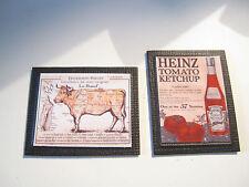 2 Casa de Muñecas en Miniatura Enmarcado Carteles Vintage A4