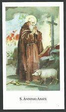 Estampa de San Antonio Abad andachtsbild santino holy card santini