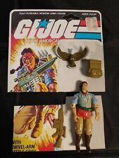 Vintage G.I. Joe ARAH 1984 SPIRIT TRACKER with FREEDOM EAGLE complete file card