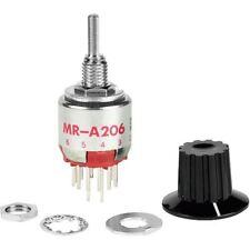 NKK mra206-a 250ma miniatura Interruptor Rotatorio DP 2-6 posiciones 125V AC