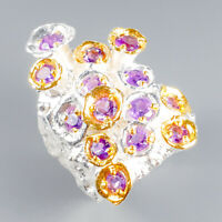 One of a kind Natural Amethyst 925 Sterling Silver Ring Size 7.5/R119491