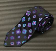 Robert Talbott Best of Class Black Silk Tie Bright Olives Bartender Necktie