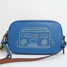 Authentic Coach 28684 Keith Haring Boombox Leather Crossbody Clutch Bag Wristlet