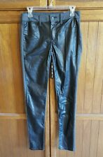 American Eagle Black Faux Leather Panel Jeggings Size 6 Long/Low Rise