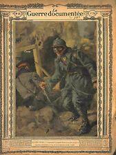Poilu Premier Occupant Tranchée Bataille Conquise Marne de Lucien Jonas 1915 WWI
