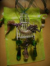MERMAID BIRD CAGE CRYSTAL ART NECKLACE MERMAIDS! ARTIST MADE SIRENS!