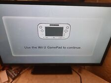 Nintendo WiiU Black Console 32 GB With Tablet & spare Wii controller.