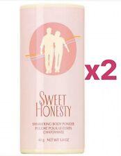(2) Avon Sweet Honesty Shimmering Body Powder 40g Net Wt 1.4oz. Sealed.