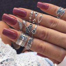 9 Pcs/set Fashion Women Finger Ring Set Punk Boho Knuckle Rings Jewelry