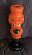 HUCKLEBERRY HOUND  FIGURAL HEAD  LAMP  1962  HANNA BARBERA  ARCH LAMP