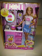 Barbie Bakery Owner Doll and Accessories Play Set New In Box