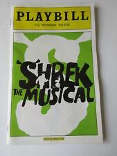 2009 SHREK Broadway Musical Playbill Program Sutton Foster NEW RARE FREE SHIP
