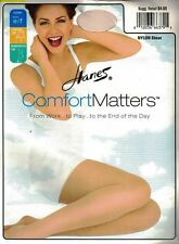 Hanes Comfort Matters Control Top Pantyhose Size EF Ivory Sheer Reinforced Toe