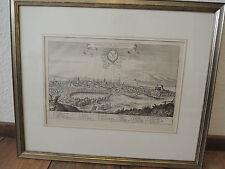 Historische Ortsansicht Helmstedt originaler Merian Kupferstich von 1654 Ansicht