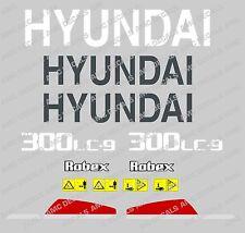 HYUNDAI 300LC-9 Escavatrice Decalcomania Sticker Impostato Con SAFETY Segnali di avvertimento