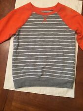 Infant Boys Jumping Beans Orange And Gray Striped Sweatshirt-Size 24