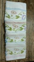 MARTEX TURKISH TOWEL Set VTG 50s 60s Floral Chenille 1) Bath 3) Hand USA Crafts