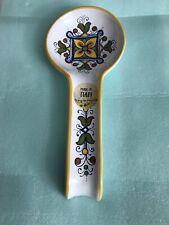 NEW Ceramica Nova Deruta Spoon Rest Ceramic Hand Painted -Made In Italy