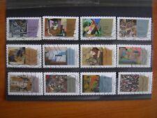Série complète art moderne  2012 (YT 699 à 710), 12 timbres