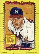 1989 Donruss Warren Spahn Puzzle Baseball Cards Complete Your Puzzle Pick List