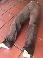 Men's Davoucci Brown Suede 100% Genuine Leather Pants