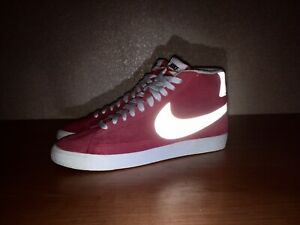 Nike Blazer 2013 Rare Reflective Size 44 Suede Red/Pink Made in Indonesia