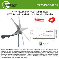 Tycon Tpw-400Dt-12/24 Weatherproofing 400W 12V/24V wind Turbine w/ 6 Blades