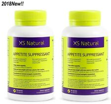 2018New! 2Box XS Natural Appetite Suppressant-180Capsules STOP Hunger Stimulates