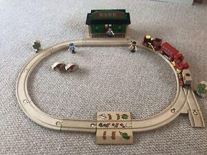 BRIO Wild West Vintage Train Set- Bank Robber, Sheriff, Steam Train, Accessorrie