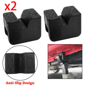 X2 Axle Jack Pad Jacking Stand Pads Adapter Frame Rail Protector Lifting Rubber