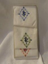 Vintage Asian Theme Handkerchief Set Original Box