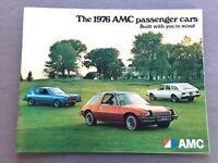 1976 AMC 36-page Car Sales Brochure Catalog - Hornet Gremlin Pacer Matador