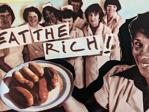 Jamie Reid Eat The rich signed limited edition 6/100 on 350 German Etching Paper