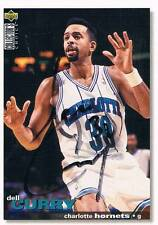 """Dell Curry 1964- autograph signed UPPER DECK trading card 2.5""""x3.5"""" basketball"""