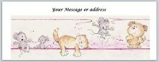 30 Personalized Return Address Labels Cats Buy 3 get 1 free (ct228)