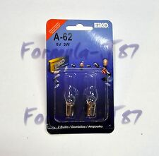 EIKO BA9s G3-1/2 6V 3W A-62 TWO BULB MINIATURE LIGHT INDICATOR ANGEL EYE LAMP