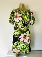 JONATHAN MARTIN Tropical Ruffle Sleeve DRESS Medium
