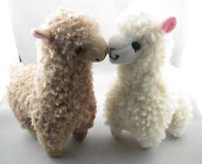 2Pcs 23cm Süßes Alpaka Plüschtier Kamel Creme Lama Stofftier Kind Puppe Höhe an