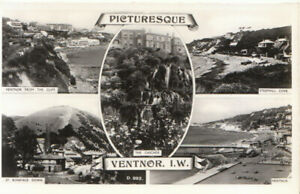 Isle of Wight Postcard - Picturesque Ventnor - Real Photograph - Ref TZ6124