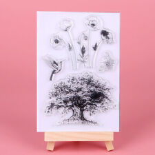 Cartoon Clear Rubber Stamp Seal Wishing Tree DIY Album Scrapbooking Card Decor