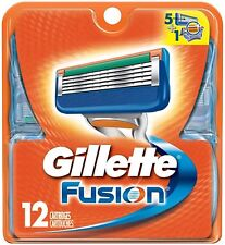 Gillette Fusion Men Razor Blade Refills 12 Count Factory Sealed Image May Vary