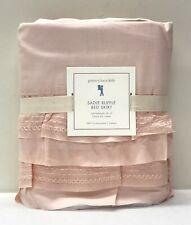 "New Pottery Barn Kids Sadie Ruffle Full Bedskirt w/16"" Drop~Blush Pink"