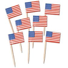 """AMERICAN""   Pack of 50 - USA Flag Picks!"